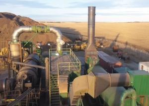 Soil remediation job site